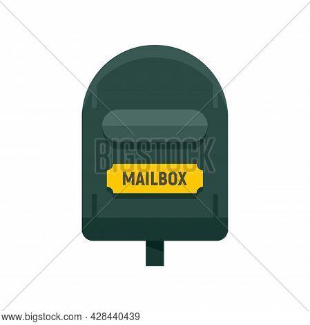 Postal Mailbox Icon. Flat Illustration Of Postal Mailbox Vector Icon Isolated On White Background