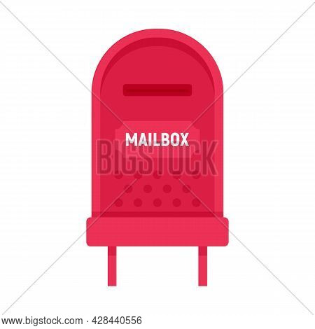 Letterbox Icon. Flat Illustration Of Letterbox Vector Icon Isolated On White Background