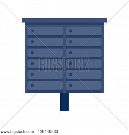 Apartment Mailbox Icon. Flat Illustration Of Apartment Mailbox Vector Icon Isolated On White Backgro