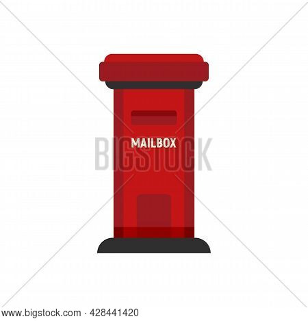 Mailbox Container Icon. Flat Illustration Of Mailbox Container Vector Icon Isolated On White Backgro