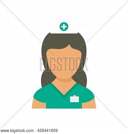 Medic Nurse Icon. Flat Illustration Of Medic Nurse Vector Icon Isolated On White Background