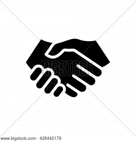 Handshake Icon. Business Agreement Concept. Contract Symbol. Vector Illustration Isolated On White