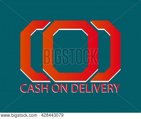 Cod - Short For Cash On Delivery With Letter Logo, Online Shopping Payment Concept Writing Elements