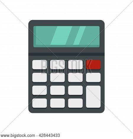 Lesson Calculator Icon. Flat Illustration Of Lesson Calculator Vector Icon Isolated On White Backgro