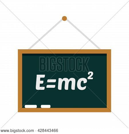 School Lesson Board Icon. Flat Illustration Of School Lesson Board Vector Icon Isolated On White Bac