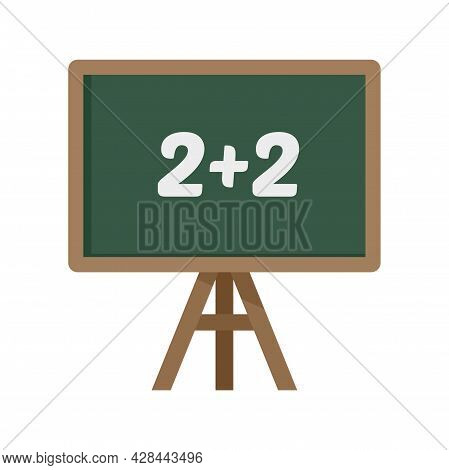 Lesson Board Icon. Flat Illustration Of Lesson Board Vector Icon Isolated On White Background