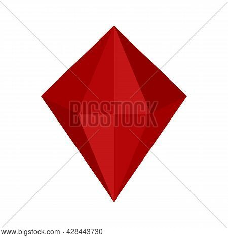 Love Jewel Icon. Flat Illustration Of Love Jewel Vector Icon Isolated On White Background