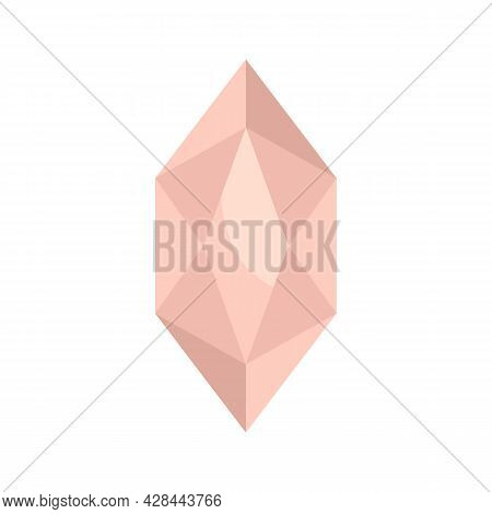 Wealthy Jewel Icon. Flat Illustration Of Wealthy Jewel Vector Icon Isolated On White Background