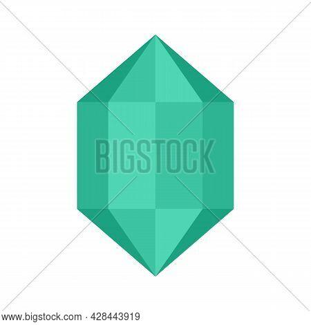 Luxury Jewel Icon. Flat Illustration Of Luxury Jewel Vector Icon Isolated On White Background