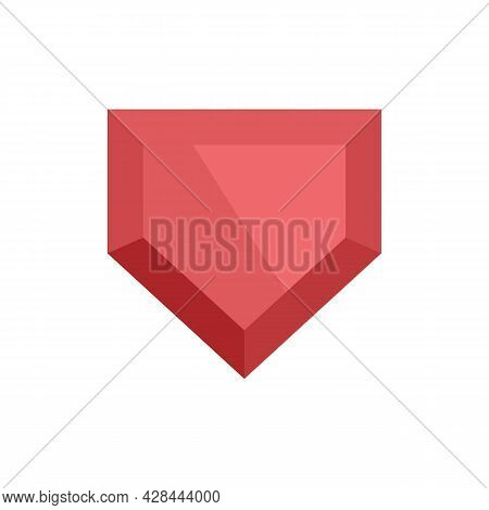 Game Jewel Icon. Flat Illustration Of Game Jewel Vector Icon Isolated On White Background