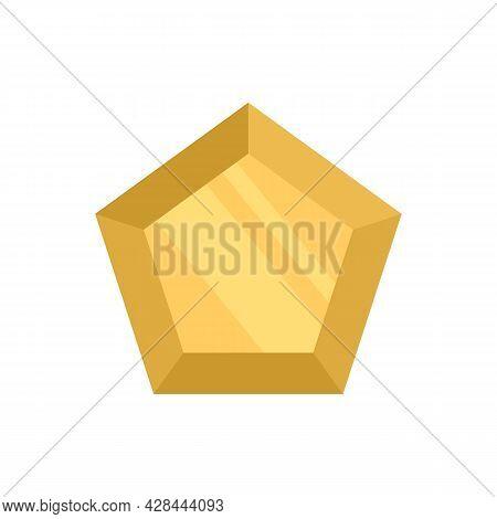 Marquise Gemstone Icon. Flat Illustration Of Marquise Gemstone Vector Icon Isolated On White Backgro