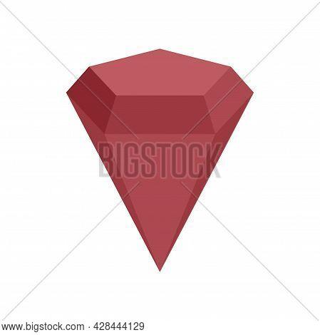 Radian Gemstone Icon. Flat Illustration Of Radian Gemstone Vector Icon Isolated On White Background