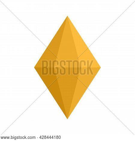 Tourmaline Jewel Icon. Flat Illustration Of Tourmaline Jewel Vector Icon Isolated On White Backgroun