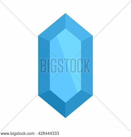 Amethyst Jewel Icon. Flat Illustration Of Amethyst Jewel Vector Icon Isolated On White Background