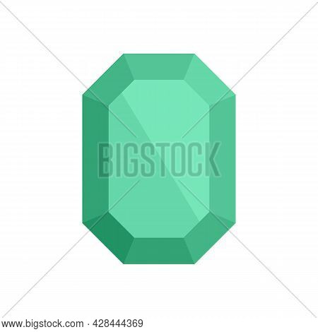 Solid Jewel Icon. Flat Illustration Of Solid Jewel Vector Icon Isolated On White Background
