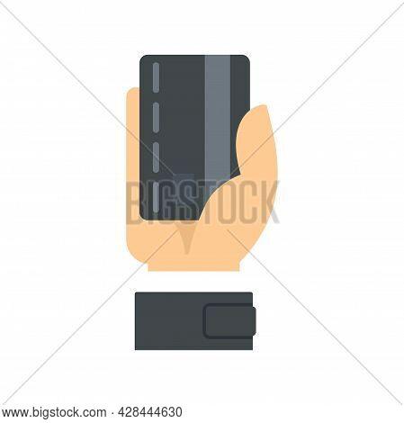 Hand Take Credit Card Icon. Flat Illustration Of Hand Take Credit Card Vector Icon Isolated On White