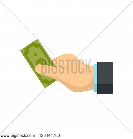 Take Money Cash Icon. Flat Illustration Of Take Money Cash Vector Icon Isolated On White Background