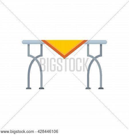 Metal Garden Table Icon. Flat Illustration Of Metal Garden Table Vector Icon Isolated On White Backg