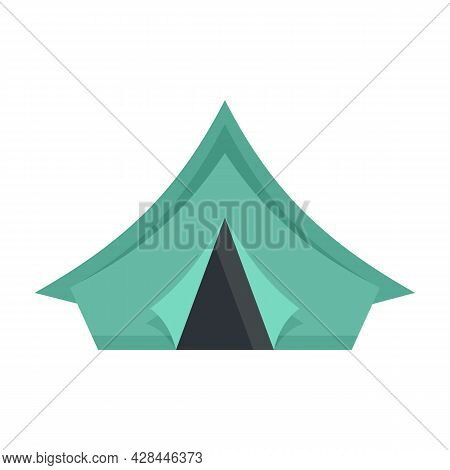 Camp Tent Icon. Flat Illustration Of Camp Tent Vector Icon Isolated On White Background