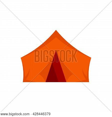 Outdoor Hiking Tent Icon. Flat Illustration Of Outdoor Hiking Tent Vector Icon Isolated On White Bac