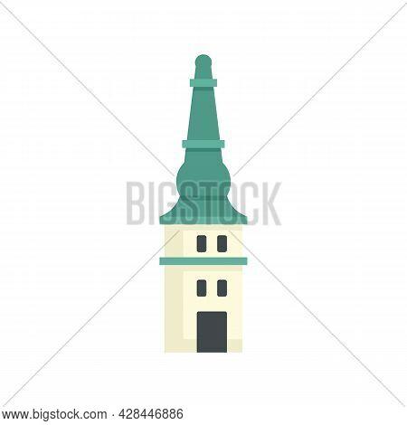 Historical Riga Tower Icon. Flat Illustration Of Historical Riga Tower Vector Icon Isolated On White