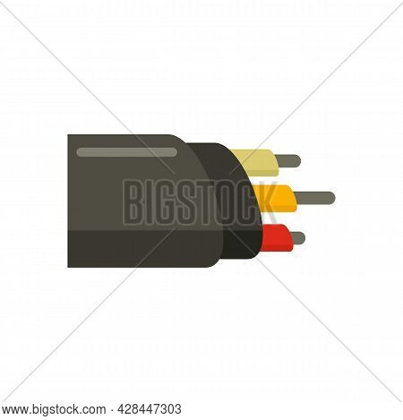 Network Optic Cable Icon. Flat Illustration Of Network Optic Cable Vector Icon Isolated On White Bac