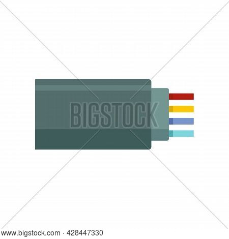 Connection Optical Cable Icon. Flat Illustration Of Connection Optical Cable Vector Icon Isolated On