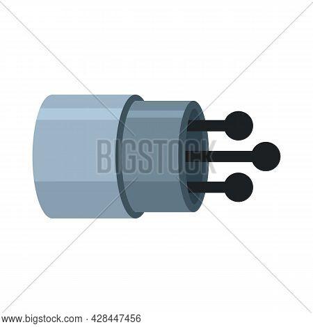 Communication Optical Fiber Icon. Flat Illustration Of Communication Optical Fiber Vector Icon Isola