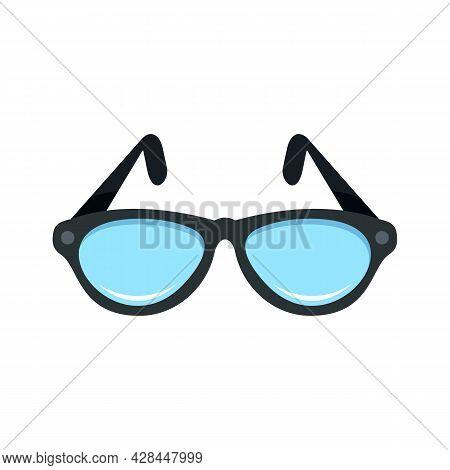 Examination Eyeglasses Icon. Flat Illustration Of Examination Eyeglasses Vector Icon Isolated On Whi