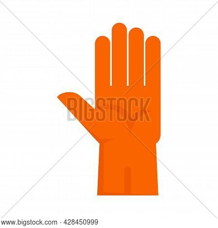 Rubber Glove Icon. Flat Illustration Of Rubber Glove Vector Icon Isolated On White Background