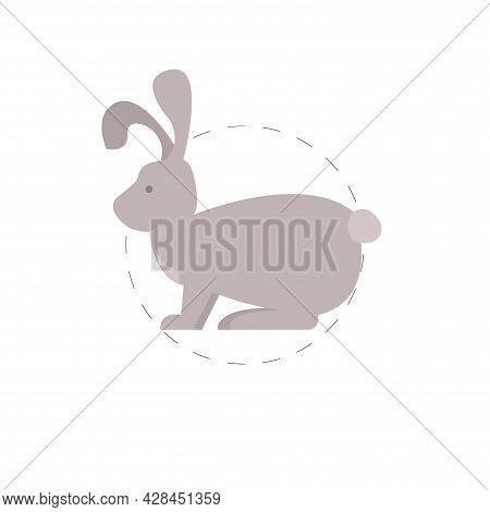 Rabbit Clipart. Rabbit Simple Vector Clipart. Rabbit Isolated Clipart.