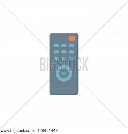 Remote Control Clipart. Tv Remote Control Simple Vector Clipart. Tv Remote Control Isolated Clipart.