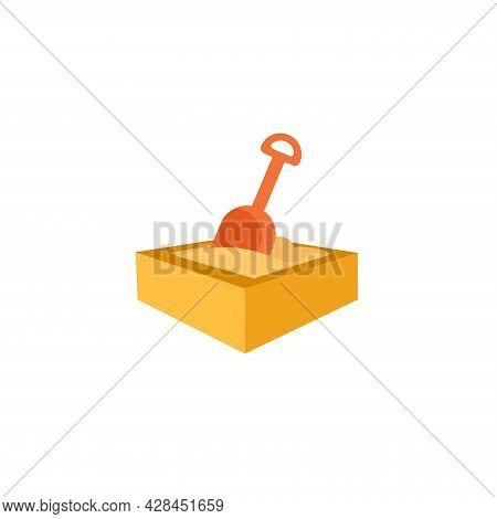 Sandbox Clipart. Sandbox Simple Vector Clipart. Sandbox Isolated Clipart.