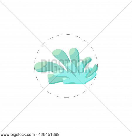 Seaweed Clipart. Seaweed Simple Vector Clipart. Seaweed Isolated Clipart.
