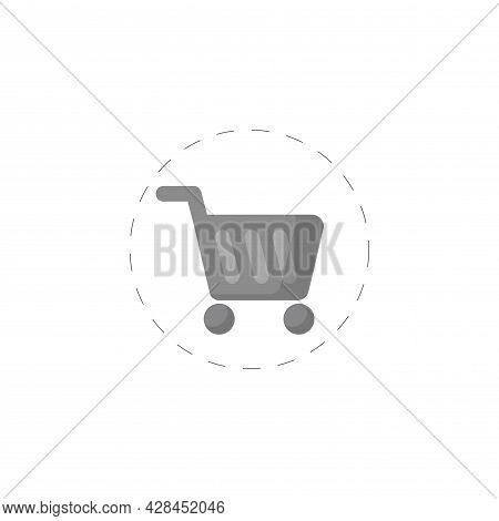 Shopping Cart Clipart. Store Cart Simple Vector Clipart. Shopping Cart Isolated Clipart.