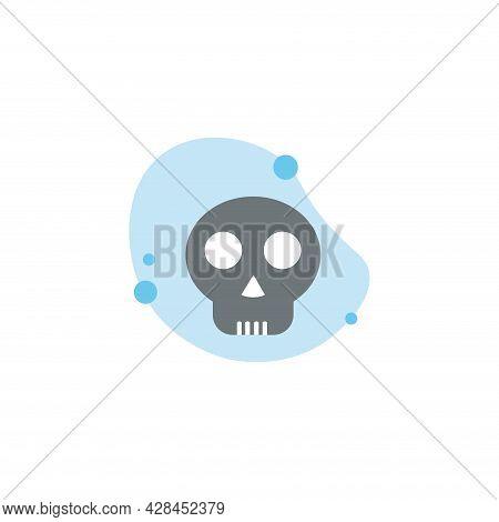 Skull Clipart. Skull Simple Vector Clipart. Skull Isolated Clipart.