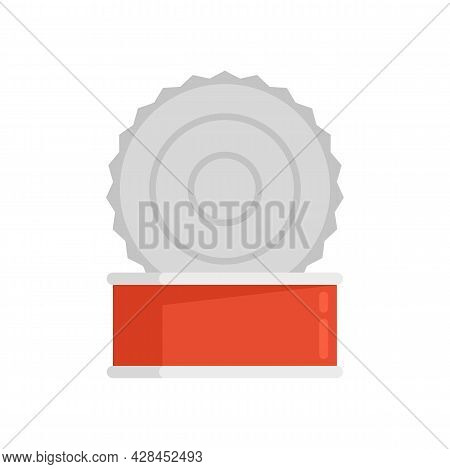 Open Tin Can Icon. Flat Illustration Of Open Tin Can Vector Icon Isolated On White Background