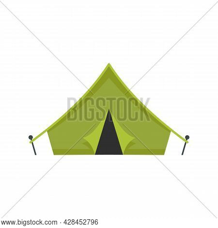Hiking Tent Icon. Flat Illustration Of Hiking Tent Vector Icon Isolated On White Background