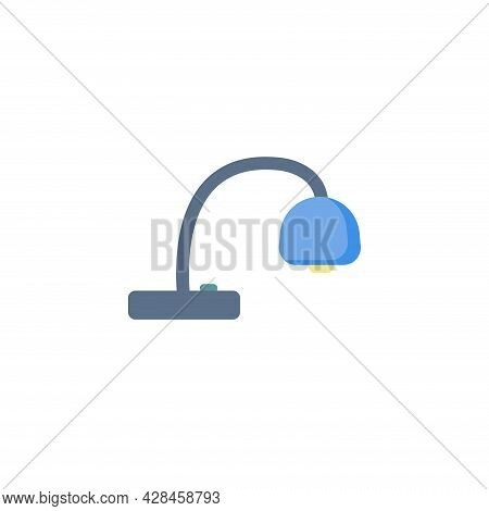 Reading Lamp Clipart. Table Lamp Simple Vector Clipart. Table Lamp Isolated Clipart.
