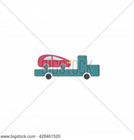 Tow Truck Clipart. Tow Truck Simple Vector Clipart. Tow Truck Isolated Clipart.