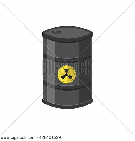 Toxic Container Clipart. Toxic Container Simple Vector Clipart. Toxic Container Isolated Clipart.