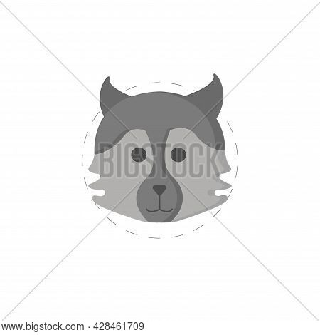 Wolf Clipart. Wolf Head Simple Vector Clipart. Wolf Isolated Clipart.