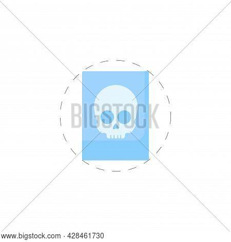 X Ray Ribs Clipart. X Ray Simple Vector Clipart. X Ray Isolated Clipart.