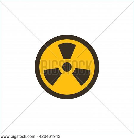 Radiation Warning Yellow Sign Clipart. Radiation Warning Simple Vector Clipart. Radiation Warning Is