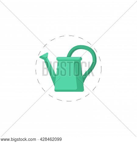 Watering Can Clipart. Watering Can Simple Vector Clipart. Watering Can Isolated Clipart.
