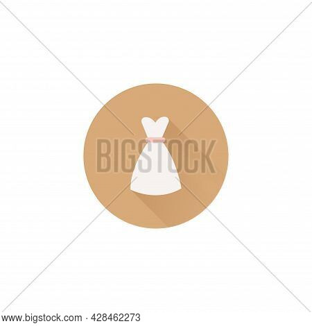 Dress Flat Icon. Dress Simple Vector Flat Icon. Dress Isolated Flat Icon.