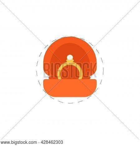 Wedding Ring Clipart. Wedding Ring Simple Vector Clipart. Wedding Ring Isolated Clipart.