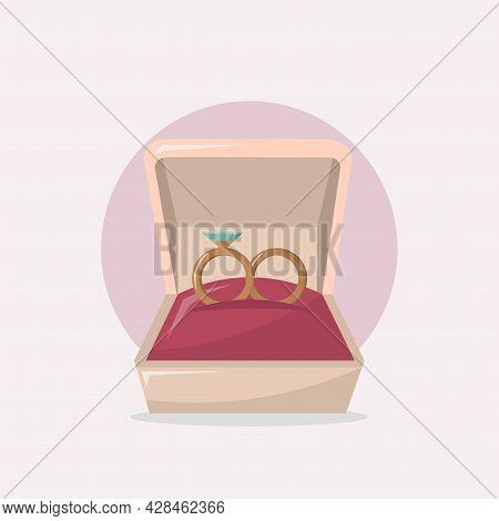 Wedding Rings Clipart. Wedding Rings Simple Vector Clipart. Wedding Rings Isolated Clipart.