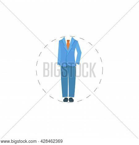 Man Suit Clipart. Man Suit Simple Vector Clipart. Man Suit Isolated Clipart.