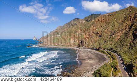 Landscape With Playa Del Roque De Las Bodegas, Anaga Mountain, Tenerife, Canary Islands, Spain